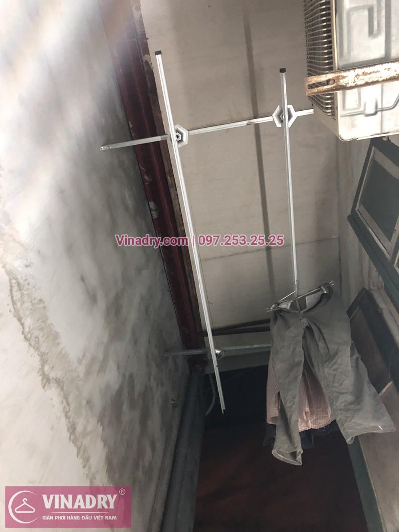 Lắp giàn phơi Thanh Xuân nhà chị Dung ở ngõ 108 Bùi Xương Trạch