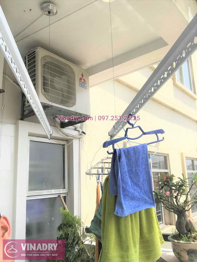 Lắp giàn phơi Hòa Phát nhà chị Hảo ở chung cư CT5 Mỹ Đình, Từ Liêm