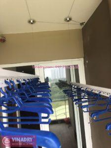 Lắp giàn phơi Hòa Phát nhà chị Hiền ở chung cư CT3 Vimeco Nguyễn Chánh