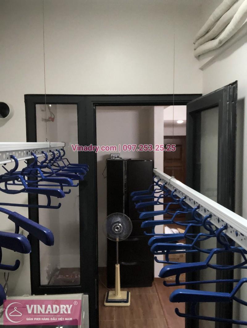Lắp giàn phơi chung cư 789 Bộ Quốc Phòng, CT2 nhà chị Lan