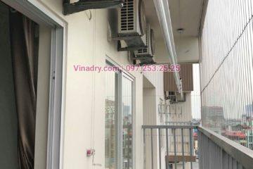 Lắp giàn phơi Hòa Phát nhà chị Thục ở chung cư 390 Nguyễn Văn Cừ, Long Biên
