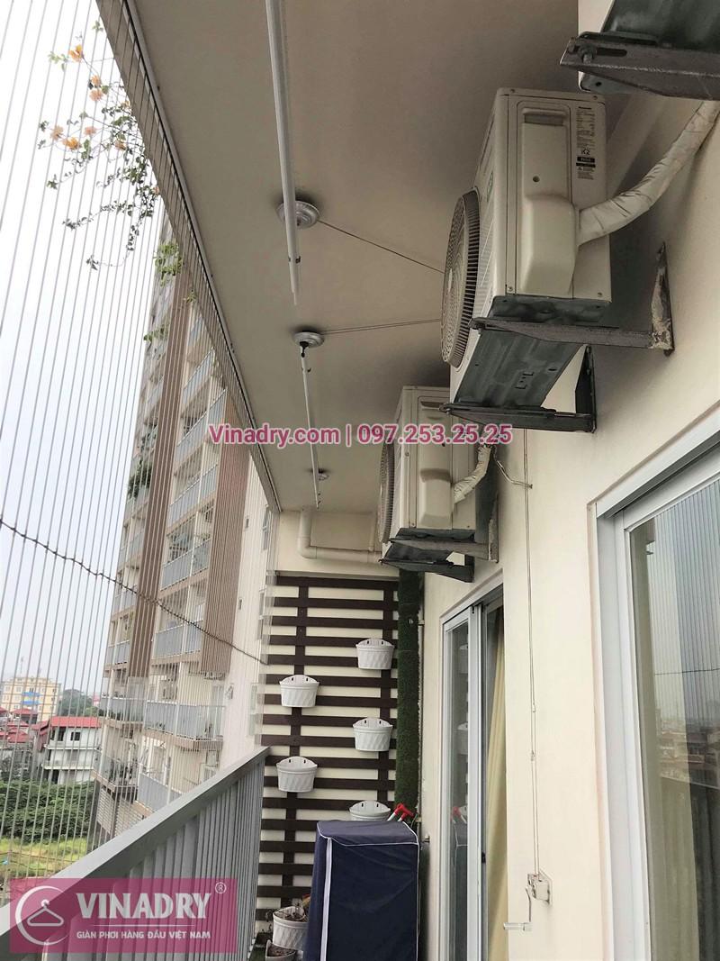 Lắp giàn phơi Long Biên nhà chị Thục ở chung cư 390 Nguyễn Văn Cừ