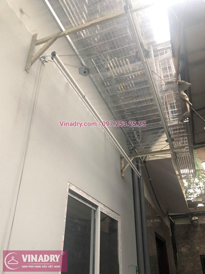 Lắp giàn phơi Hòa Phát nhà chị Trâm ở ngõ 29 Lĩnh Nam, Hoàng Mai