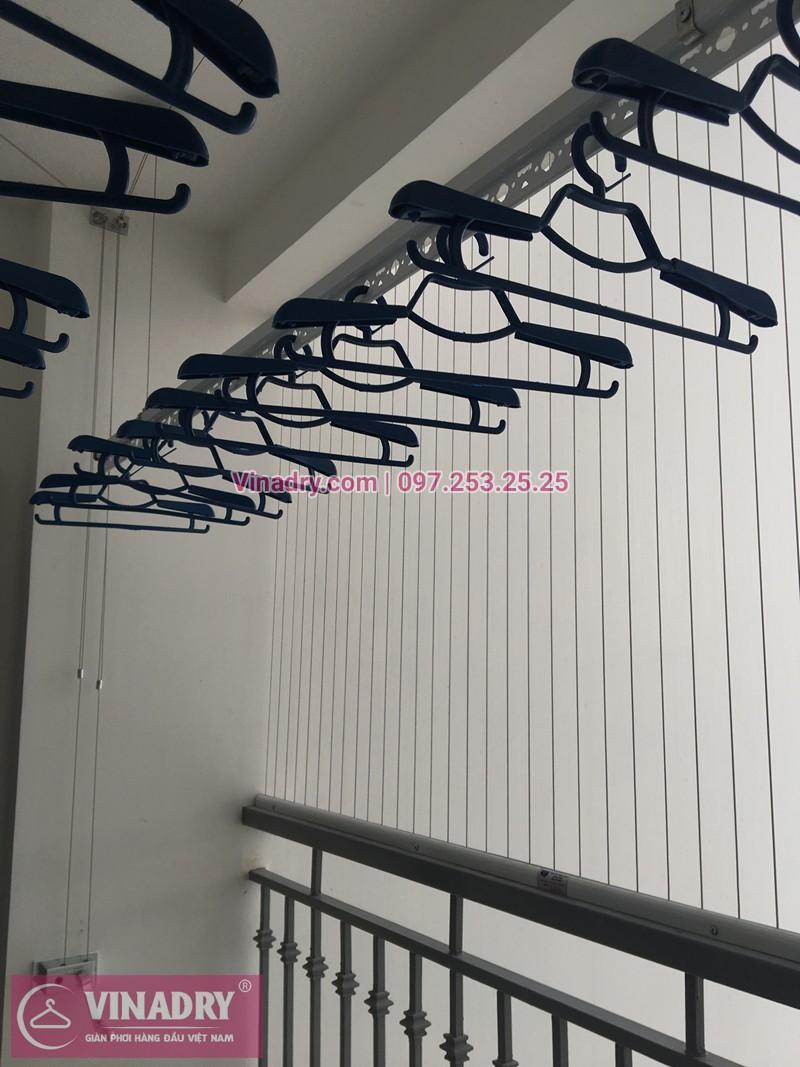 Lắp giàn phơi Hòa Phát ở chung cư Park Hill tòa Park 8 nhà chị Hồng