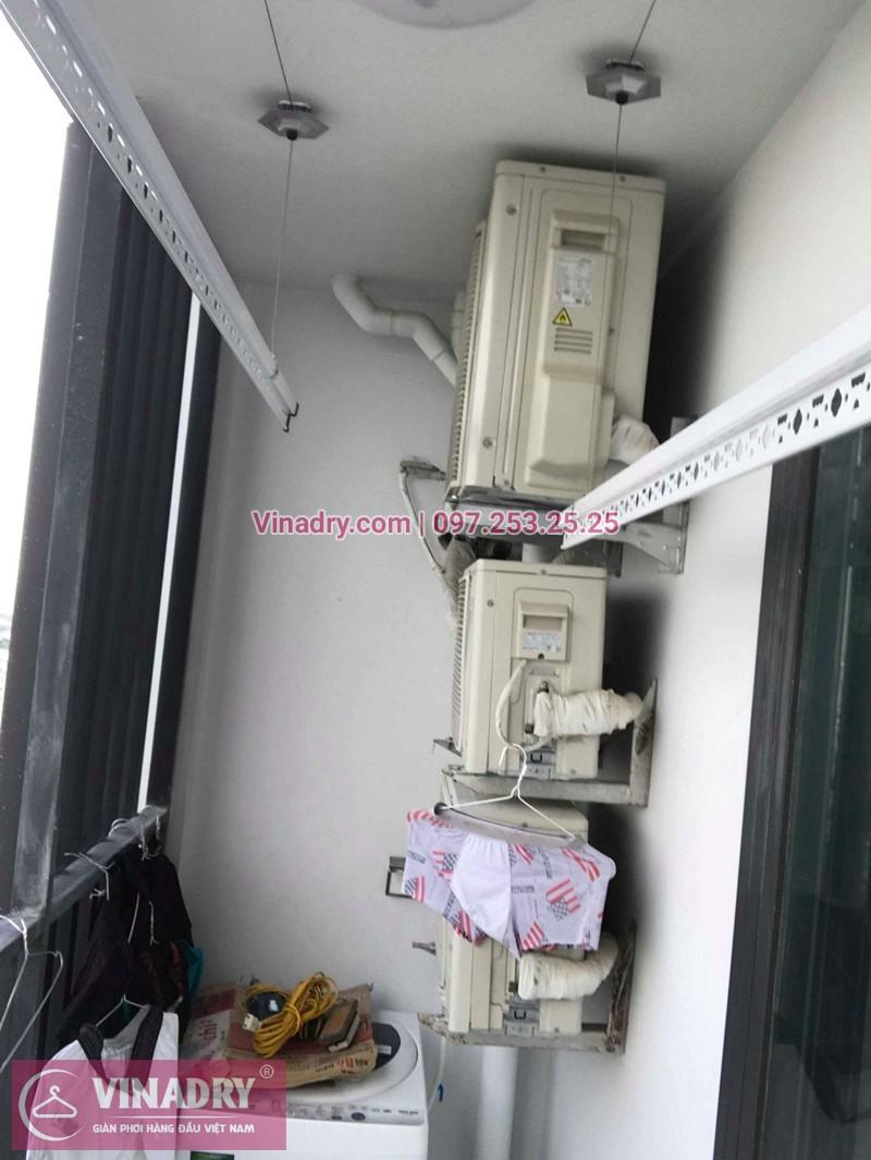 Lắp giàn phơi Thanh Xuân nhà chị Nhàn ở chung cư Five Star số 2 Kim Giang