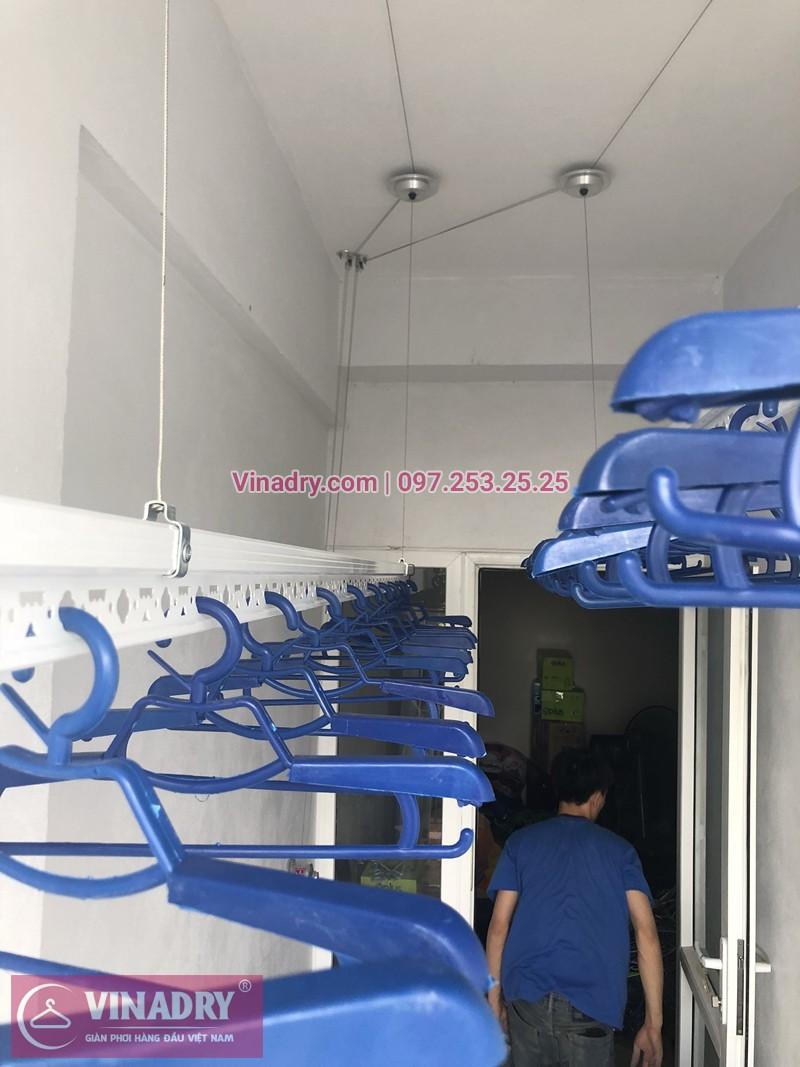 Lắp giàn phơi thông minh chung cư 622 Minh Khai nhà chị Thủy