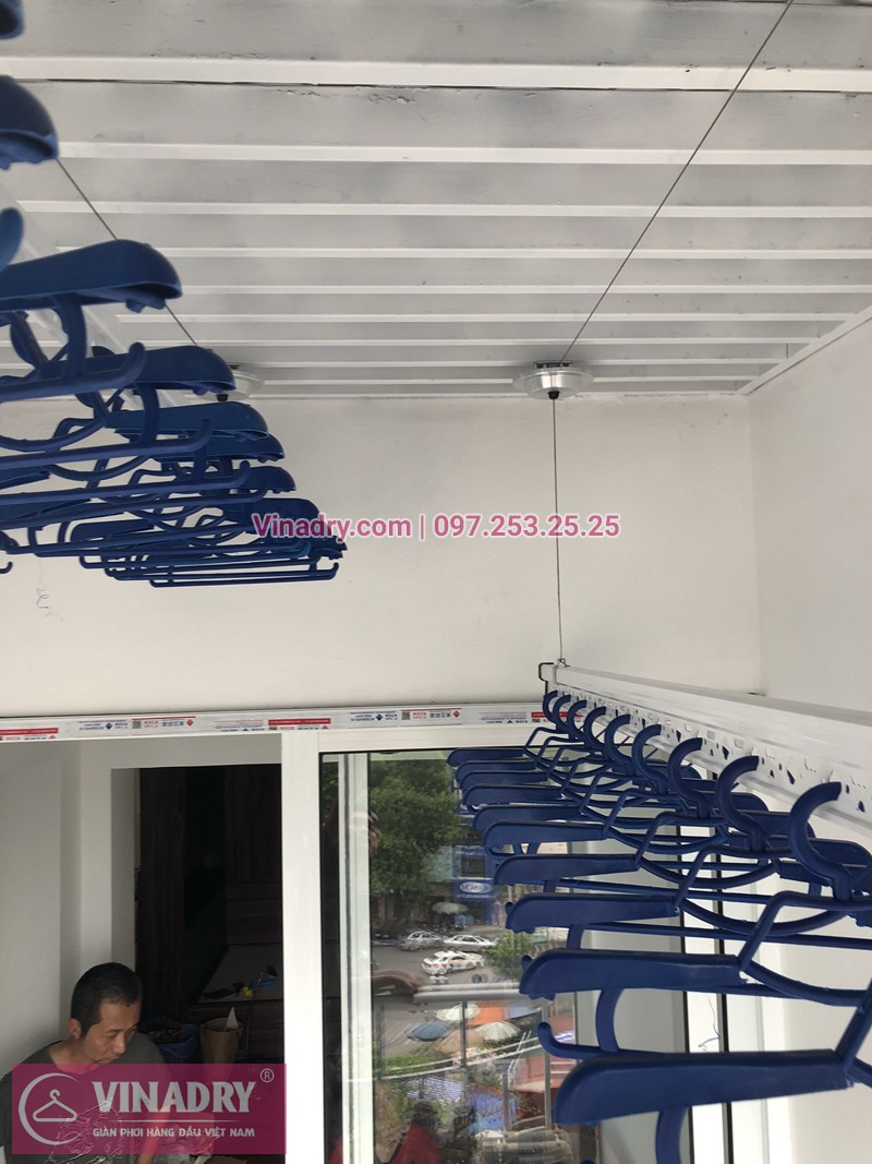 Lắp giàn phơi Đống Đa ở chung cư 71 Nguyễn Chí Thanh nhà chị Ánh