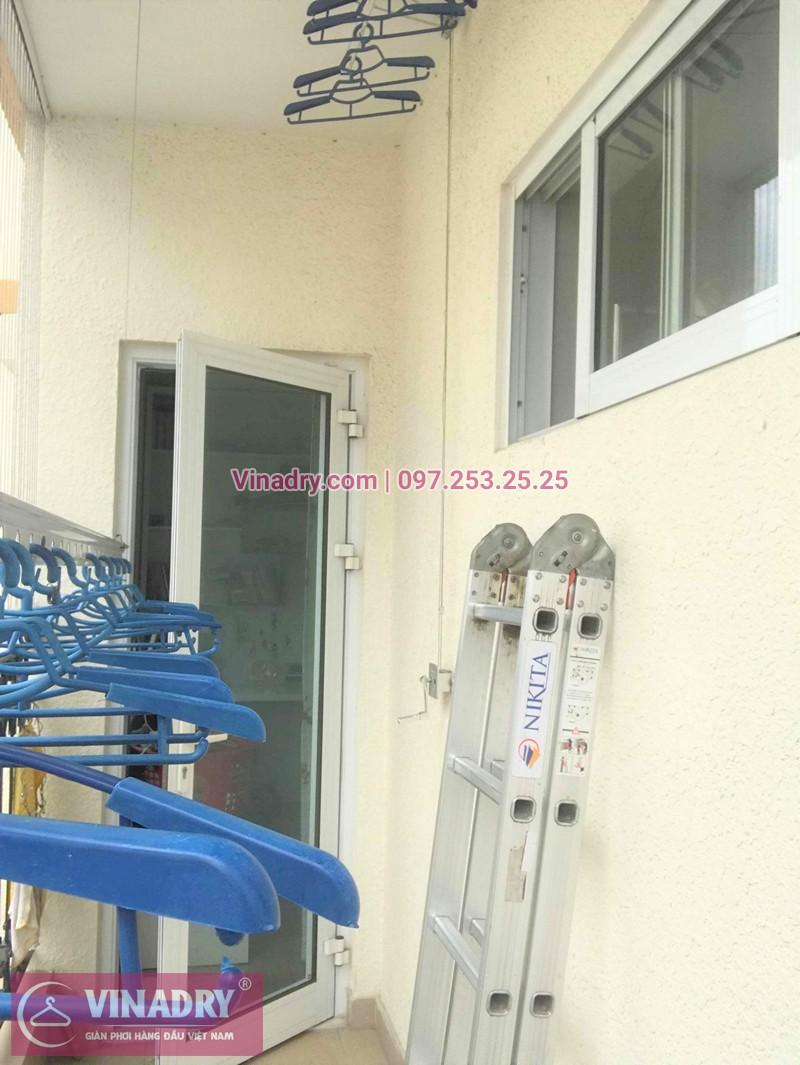 Lắp giàn phơi chung cư Hòa Bình Green nhà chị Nhung