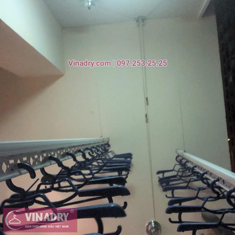 Lắp giàn phơi Gia Lâm ở chung cư Nguyễn Văn Cừ nhà chị Liễu