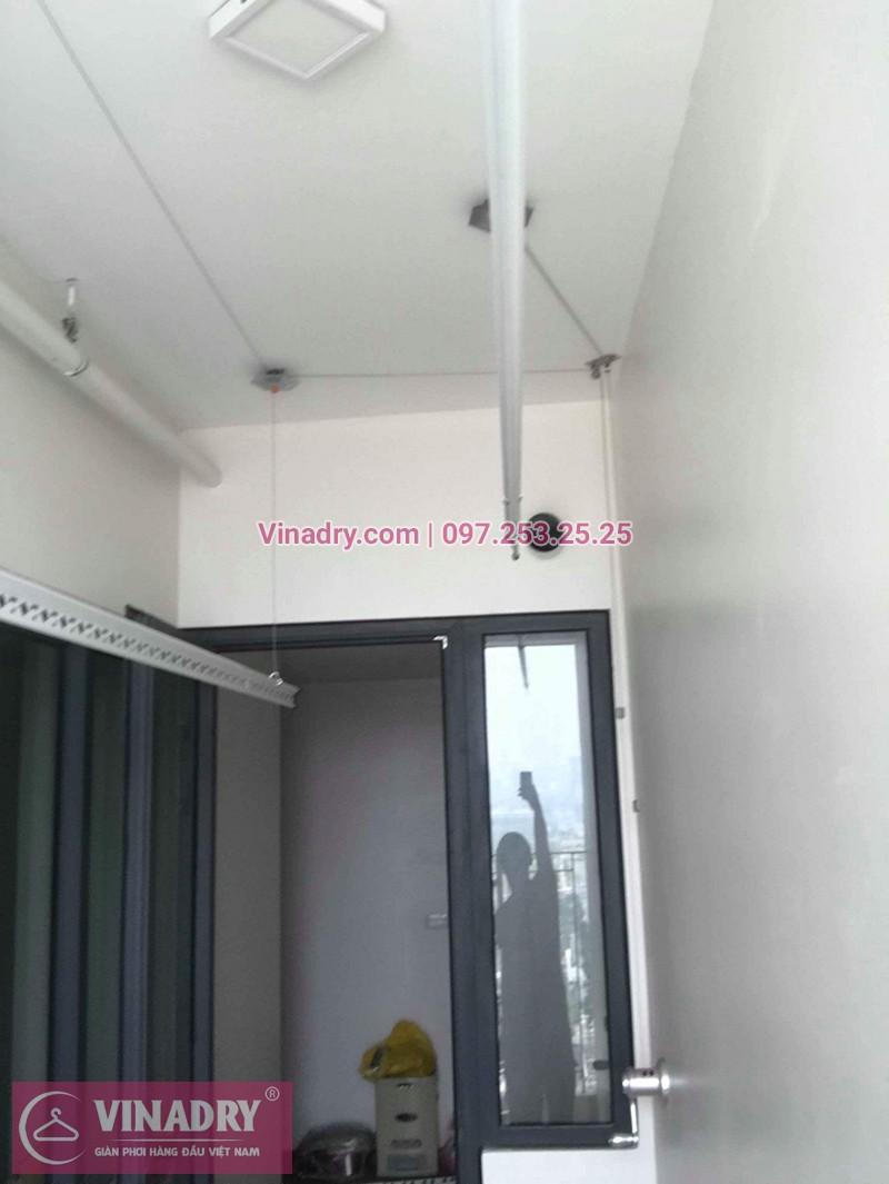 Lắp giàn phơi Từ Liêm ở chung cư 789 Bộ Quốc Phòng nhà chị Thương