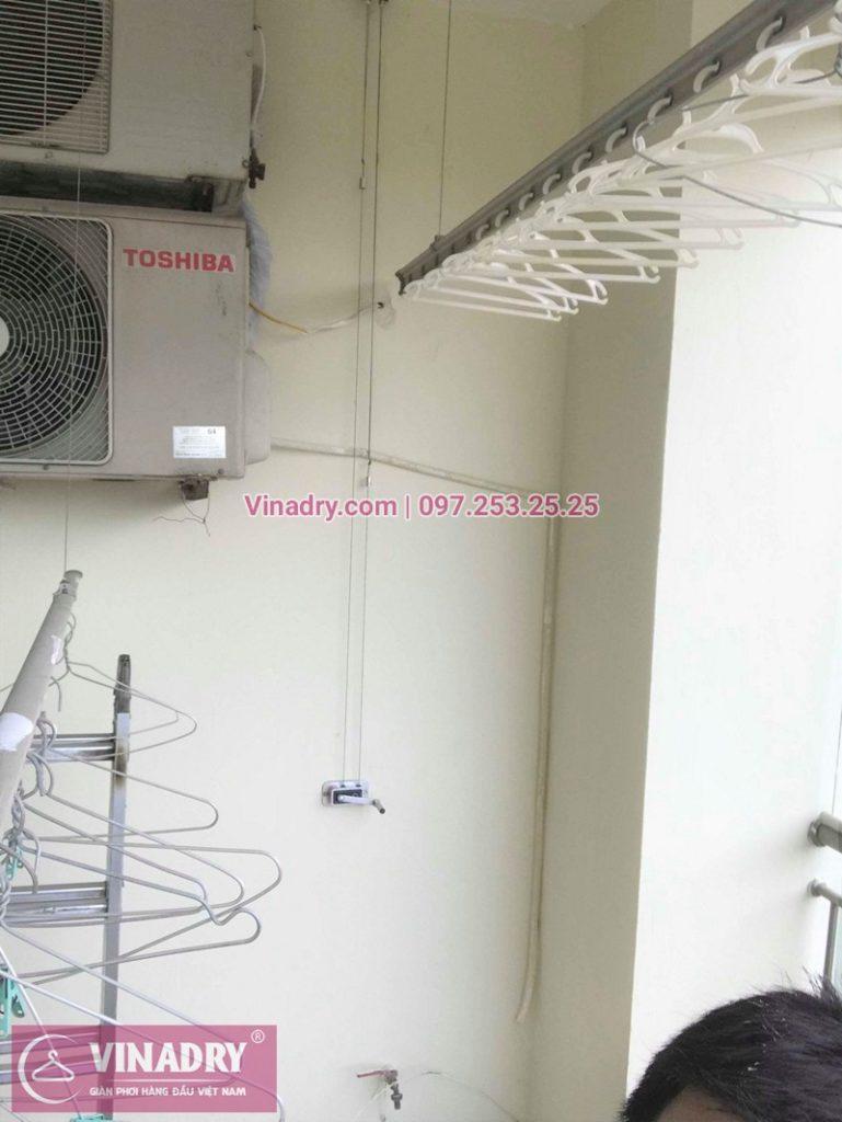 Sửa giàn phơi thông minh chung cư 15T2 Tam Trinh nhà chị Định