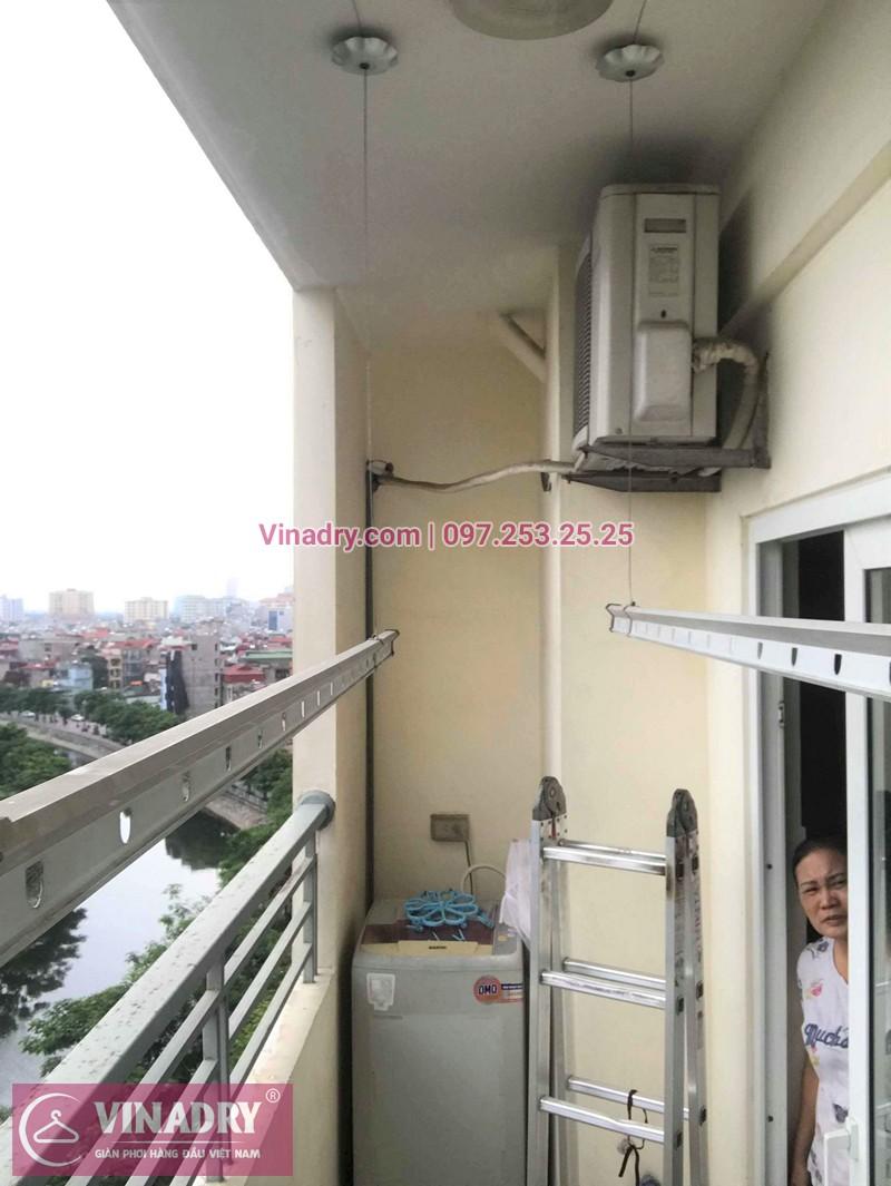 Sửa giàn phơi thông minh chung cư CT1 Nam Đô Trương Định nhà anh Mừng
