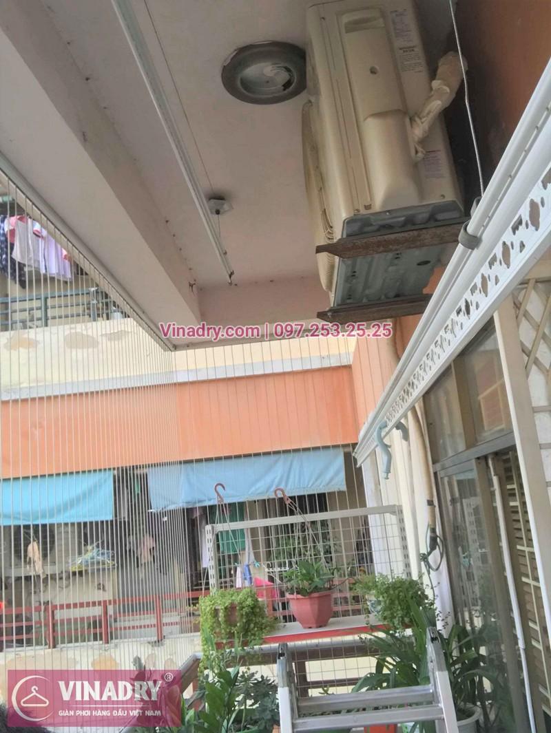 Hình ảnh thực tế bộ giàn phơi quần áo chung cư nhà chị Lương
