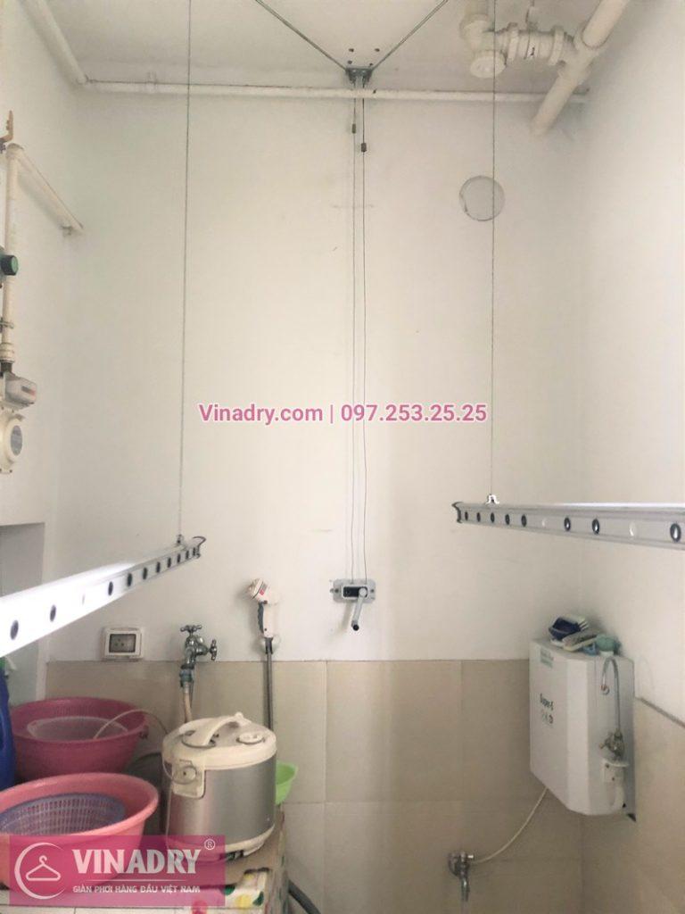 Sửa giàn phơi thông minh chung cư CT5 Huyndai Hà Đông nhà chị Nhàn