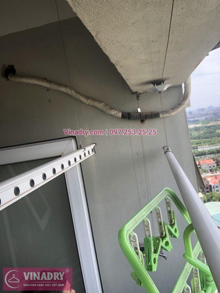 Sửa giàn phơi thông minh chung cư CT6C Kiến Hưng, Hà Đông nhà chị Thư