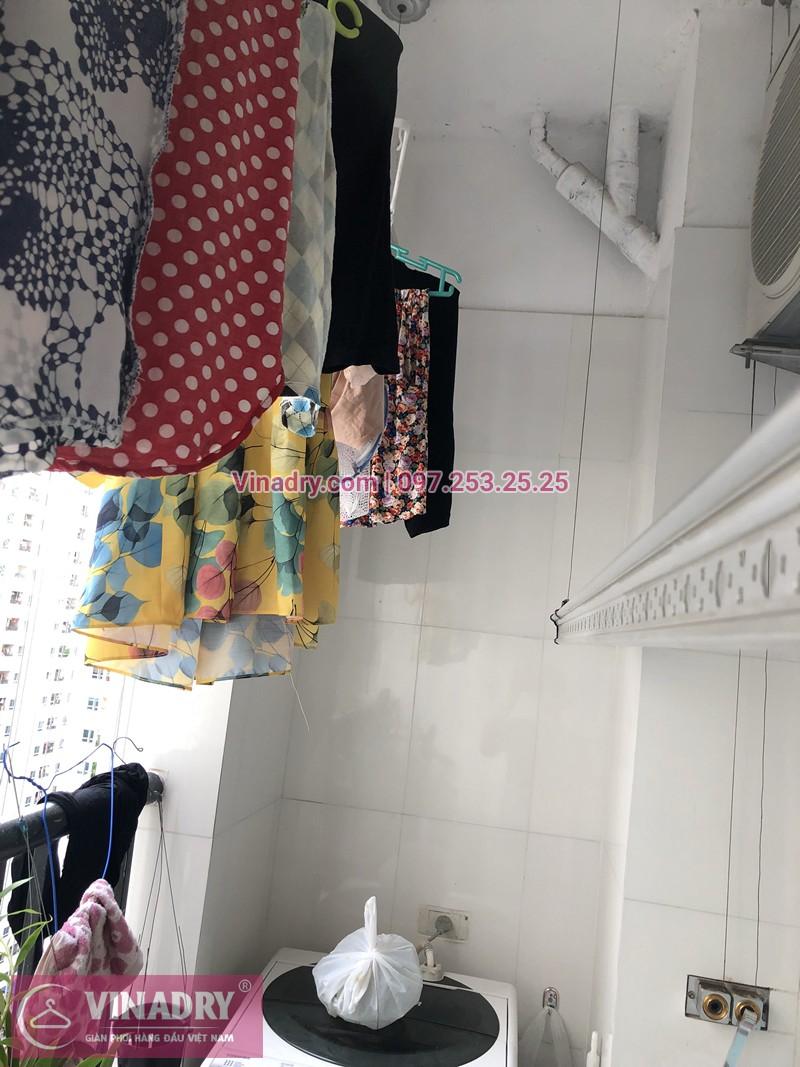 Hình ảnh thực tế bộ giàn phơi quần áo chung cư nhà chị Thu
