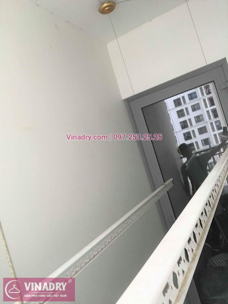 Hình ảnh thực tế bộ giàn phơi quần áo chung cư nhà chị Lan