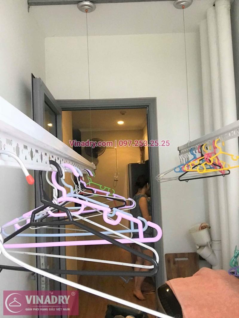Hình ảnh thực tế bộ giàn phơi quần áo chung cư nhà chị Tú