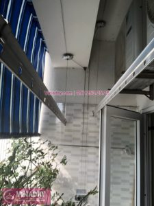 Sửa giàn phơi thông minh chung cư VP3 Linh Đàm, Hoàng Mai nhà chị Na