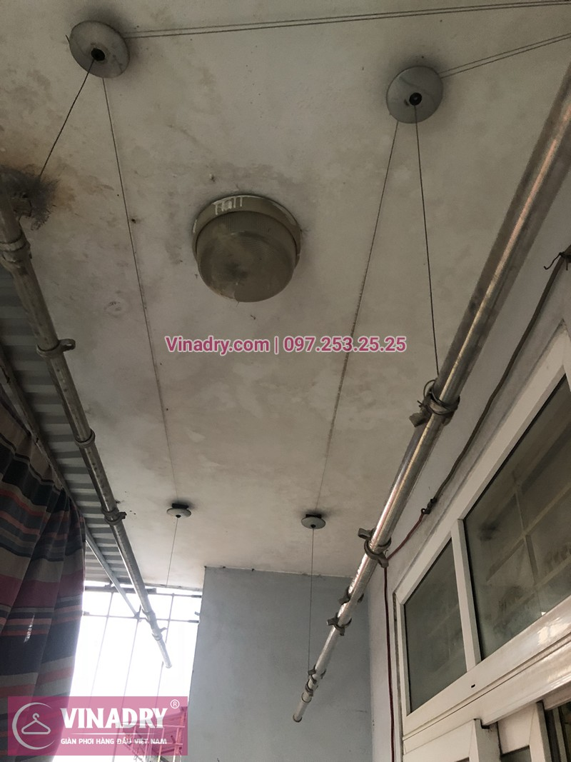 Sửa giàn phơi thông minh Hà Đông nhà chị Lệ ở chung cư mini CT6XD Văn Quán