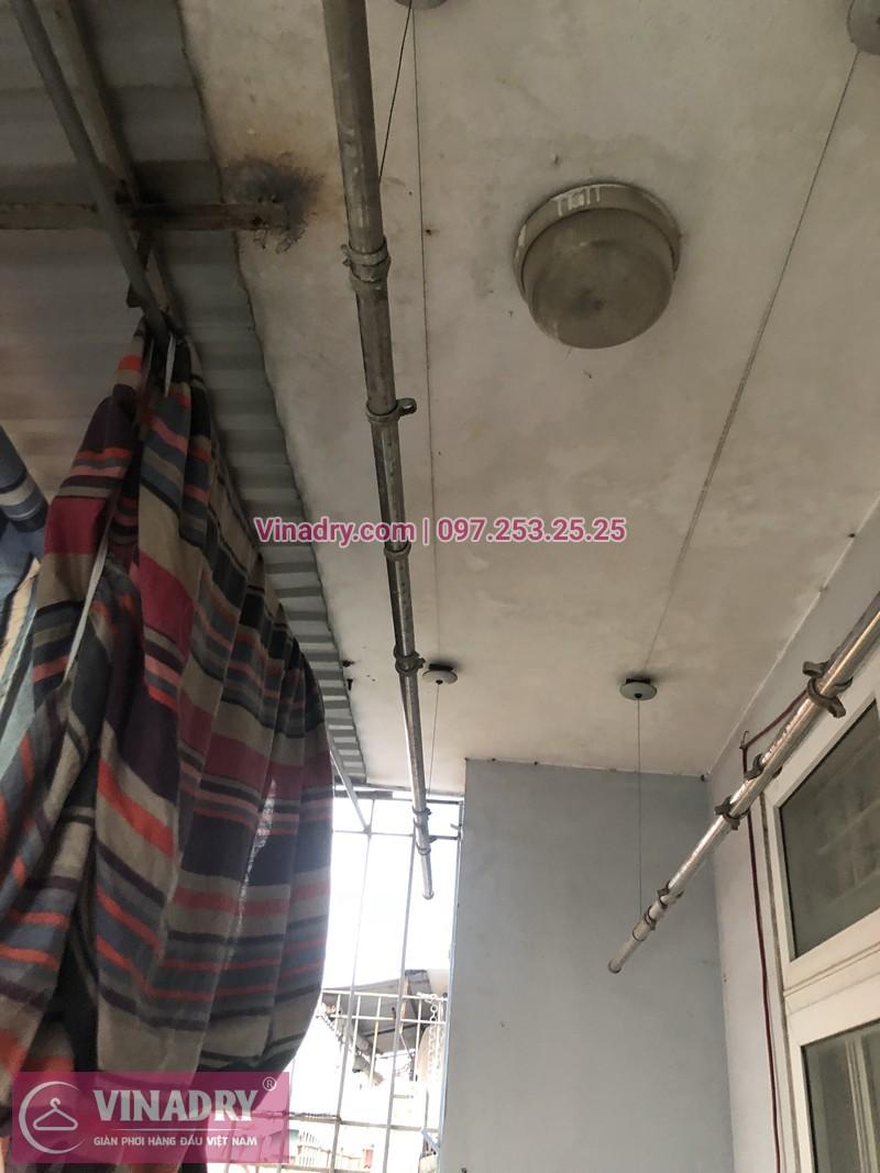 Hình ảnh thực tế bộ giàn phơi quần áo chung cư nhà chị Lệ