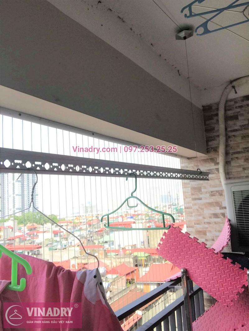 Hình ảnh thực tế bộ giàn phơi quần áo chung cư nhà chị Thùy