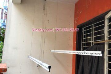 Sửa giàn phơi thông minh nhà chị Duyên ở ngõ 82 Nguyễn Phúc Lai, Đống Đa