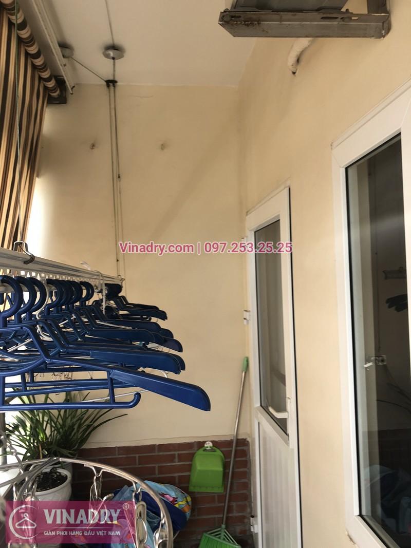 Hình ảnh thực tế bộ giàn phơi quần áo chung cư nhà chị Lê