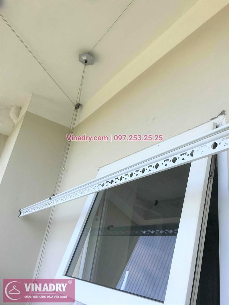 Sửa giàn phơi thông minh nhà chị Mỹ chung cư CT2, Thạch Bàn, Long Biên