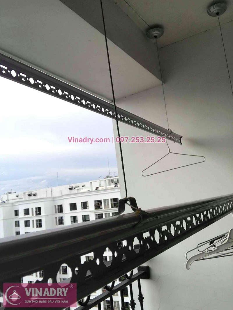 Hình ảnh thực tế bộ giàn phơi chung cư nhà chị HoaHình ảnh thực tế bộ giàn phơi chung cư nhà chị Hoa