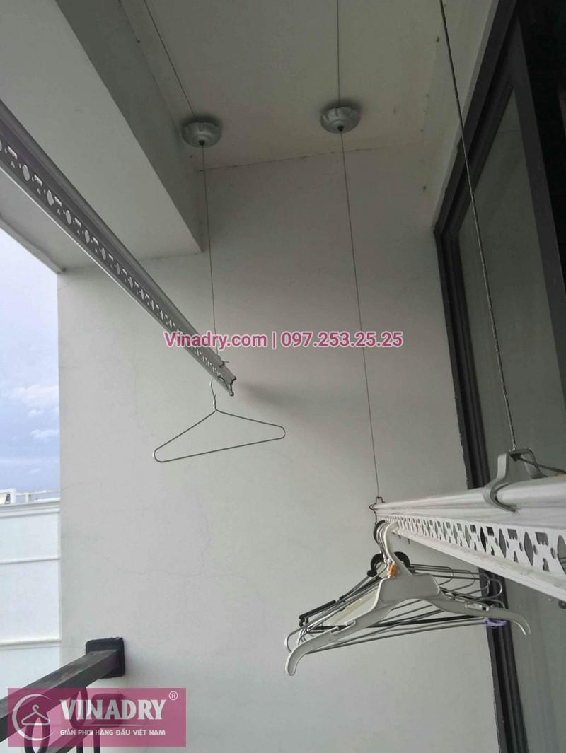 Hình ảnh thực tế bộ giàn phơi chung cư nhà chị Hoa