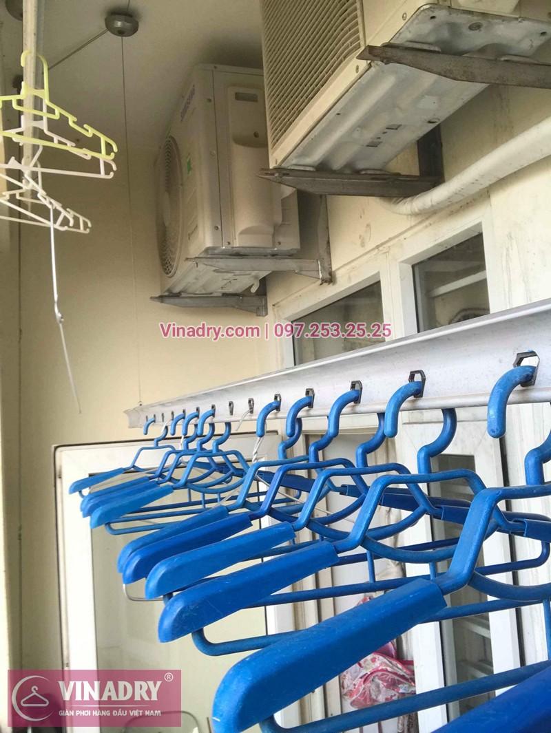 Thay dây cáp giàn phơi thông minh nhà chị Mơ chung cư No 17-1 Sài Đồng
