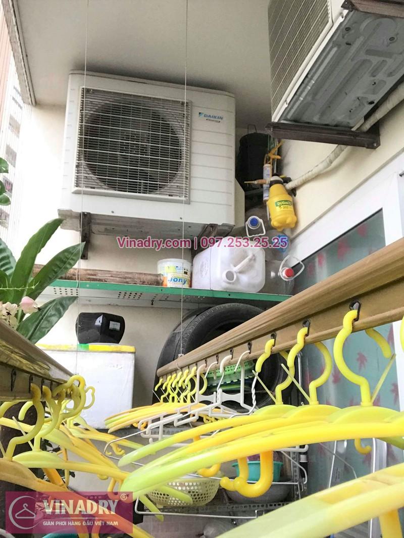 Hình ảnh thực tế bộ giàn phơi quần áo chung cư nhà anh Du