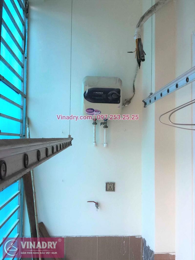 Thay dây cáp giàn phơi thông minh nhà chị Thi ở chung cư 310 Minh Khai