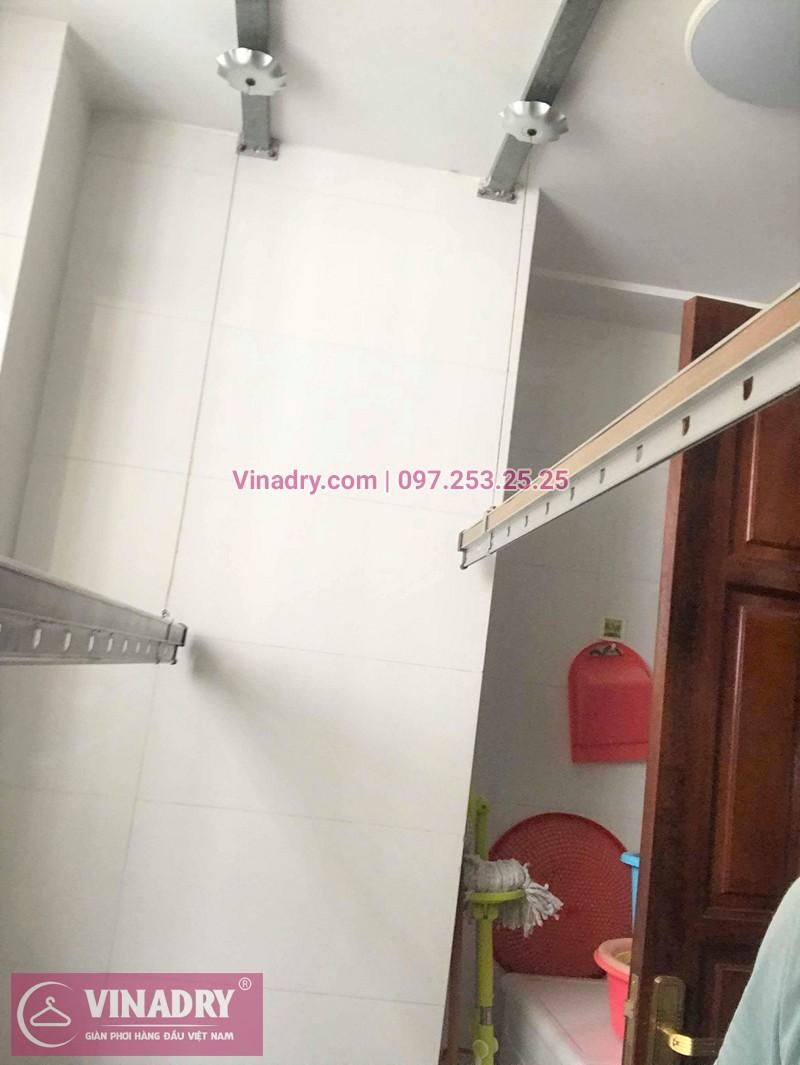 Thay dây cáp giàn phơi thông minh nhà chị Thùy chung cư VP2 Linh Đàm