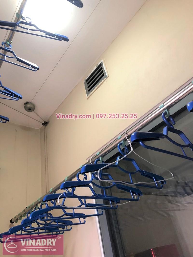 Hình ảnh thực tế bộ giàn phơi quần áo chung cư nhà chị Thủy