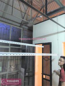 Lắp giàn phơi Hòa Phát nhà anh Nam ở ngõ 25 Thái Phiên, Hai Bà Trưng