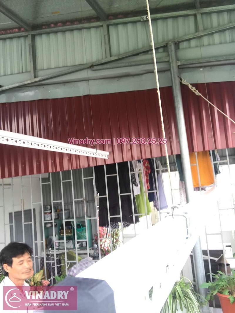 Lắp giàn phơi Long Biên nhà chị Thương ở ngõ 316 Ngọc Thuỵ