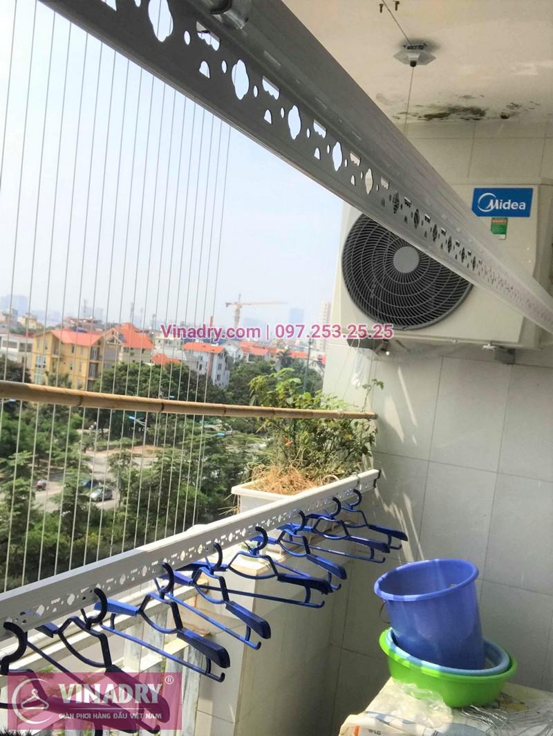 Lắp giàn phơi Tây Hồ nhà chị Tình ở chung cư CT13 KĐT Nam Thăng Long