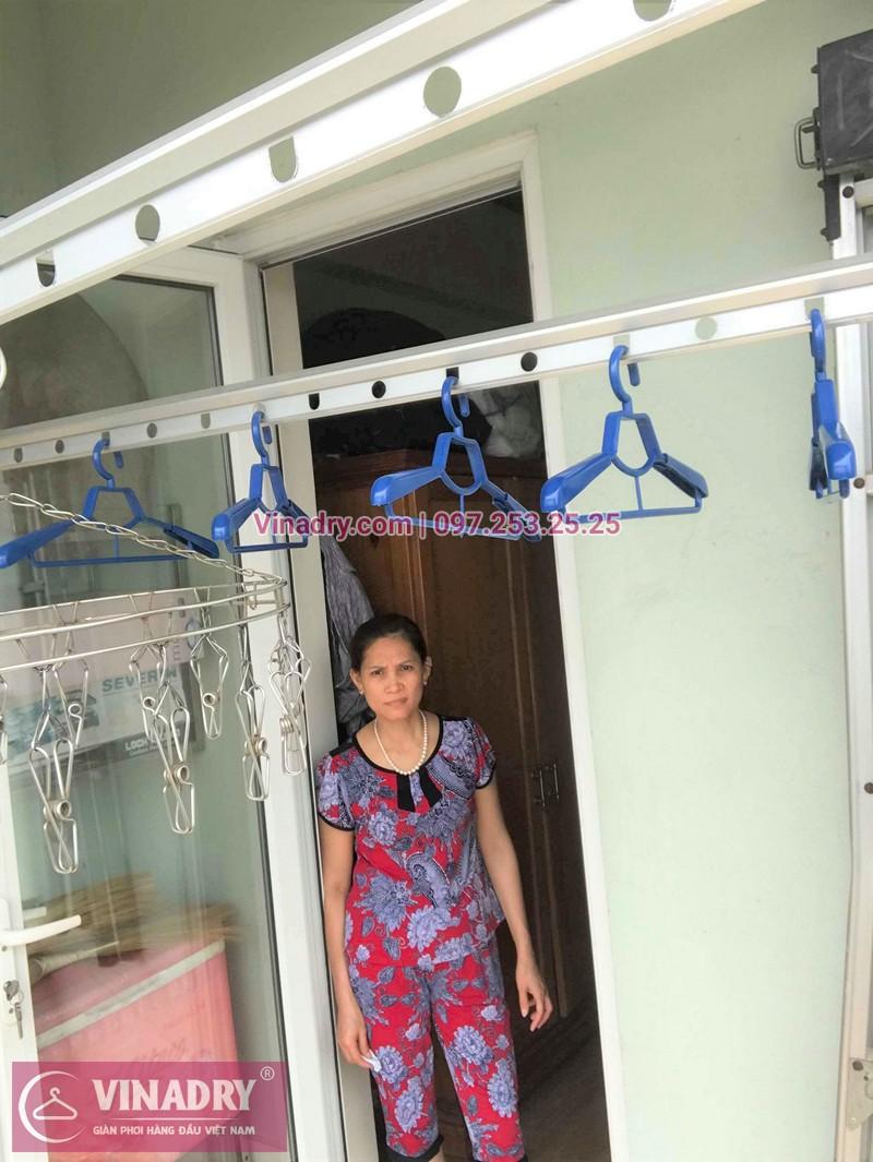 Hình ảnh thực tế bộ giàn phơi quần áo thông minh nhà chị Thảo