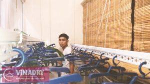 Lắp giàn phơi quần áo tại Hà Đông nhà chị Hân, chung cư viện 103- 07