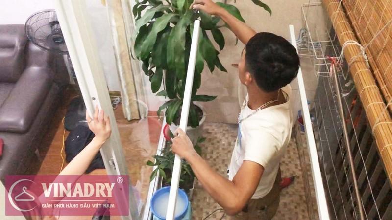 Lắp giàn phơi quần áo tại Hà Đông nhà chị Hân, chung cư viện 103- 04