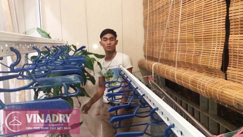 Lắp giàn phơi quần áo tại Hà Đông nhà chị Hân, chung cư viện 103- 06