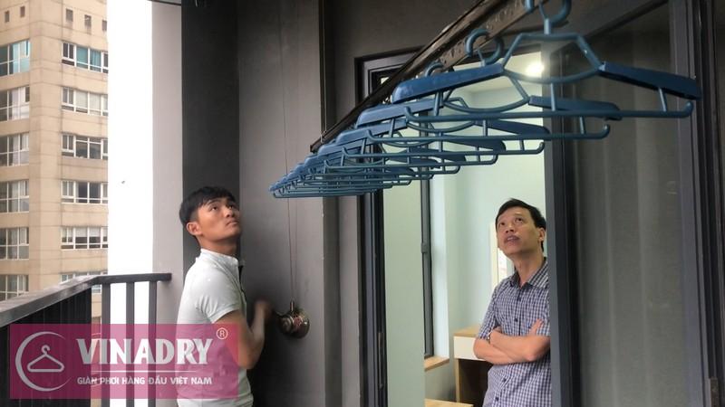 Lắp đặt giàn phơi thông minh Cầu giấy nhà anh Vững, căn 1008 chung cư Vinaconex - 07