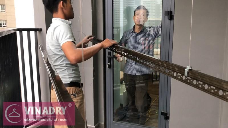 Lắp đặt giàn phơi thông minh Cầu giấy nhà anh Vững, căn 1008 chung cư Vinaconex - 02