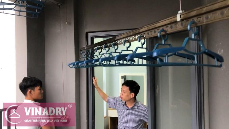 Lắp đặt giàn phơi thông minh Cầu giấy nhà anh Vững, căn 1008 chung cư Vinaconex - 05