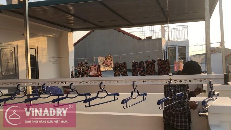 Lắp giàn phơi quần áo thông minh nhà anh Mạnh, ngõ 219 Bồ Đề, Long Biên, Hà Nội - 01