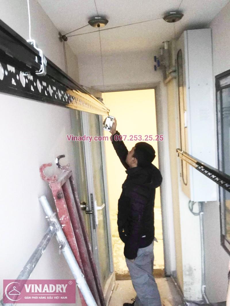 Hình ảnh giàn phơi Hòa phát H009 lắp tại chung cư Hòa Phát Tân Mai