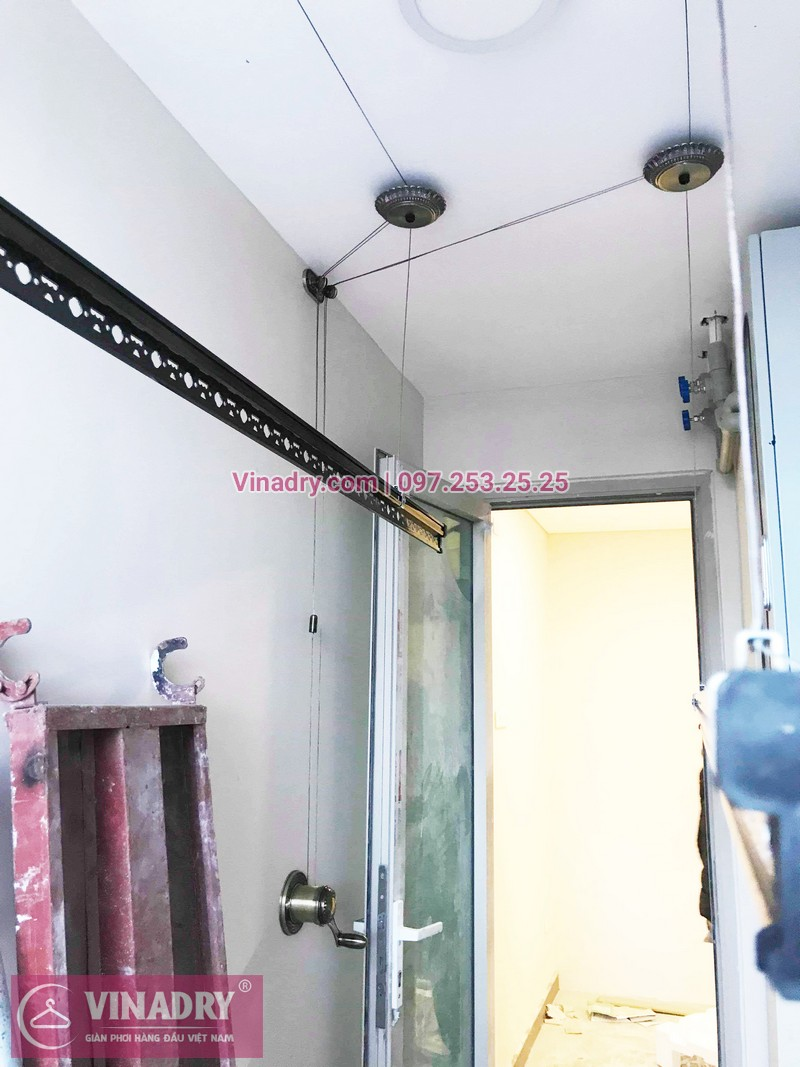 Lắp giàn phơi thông minh mẫu mới 2019 tại chung cư Hòa Phát Tân Mai - 02