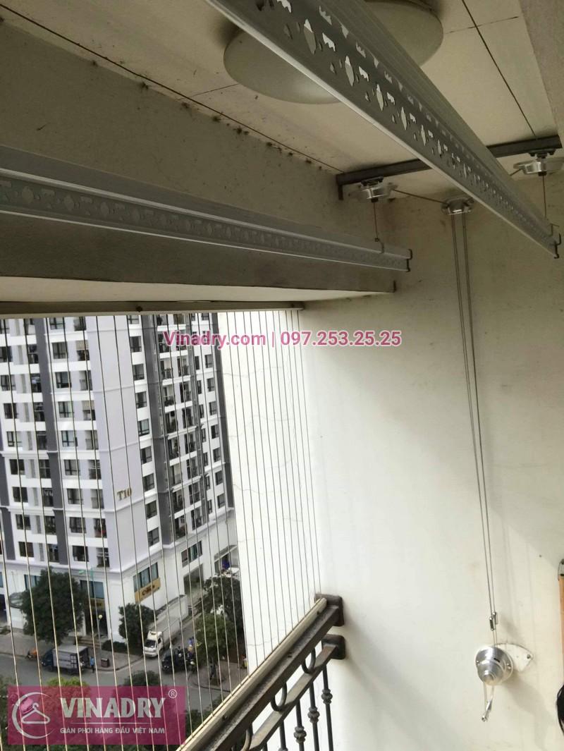 Lắp giàn phơi thông minh Hòa Phát tại Times City nhà anh Bình, Tòa T8 - 01